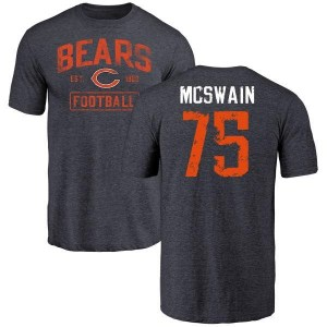 Trevon McSwain Chicago Bears Youth Navy Distressed Name & Number Tri-Blend T-Shirt