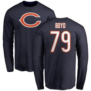 Dino Boyd Chicago Bears Youth Navy Name & Number Logo Long Sleeve T-Shirt -