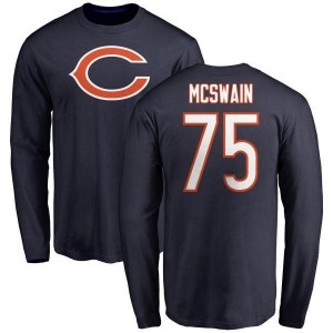 Trevon McSwain Chicago Bears Youth Navy Name & Number Logo Long Sleeve T-Shirt -