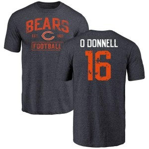 Pat O'Donnell Chicago Bears Men's Navy Distressed Name & Number Tri-Blend T-Shirt