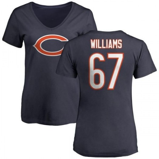Garry Williams Chicago Bears Women's Navy Any Name & Number Logo Slim Fit T-Shirt -