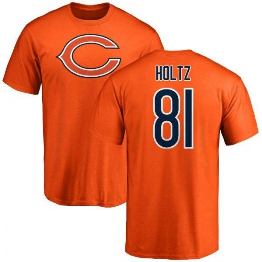 J.P. Holtz Chicago Bears Youth Orange Name & Number Logo T-Shirt -