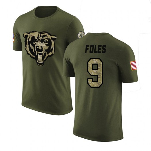Nick Foles Chicago Bears Youth Legend Olive Salute to Service T-Shirt