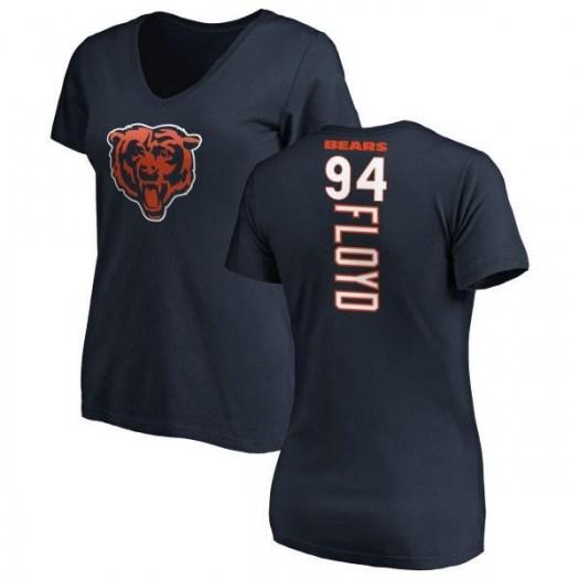 Leonard Floyd Chicago Bears Women's Navy Pro Line Backer Slim Fit T-Shirt -