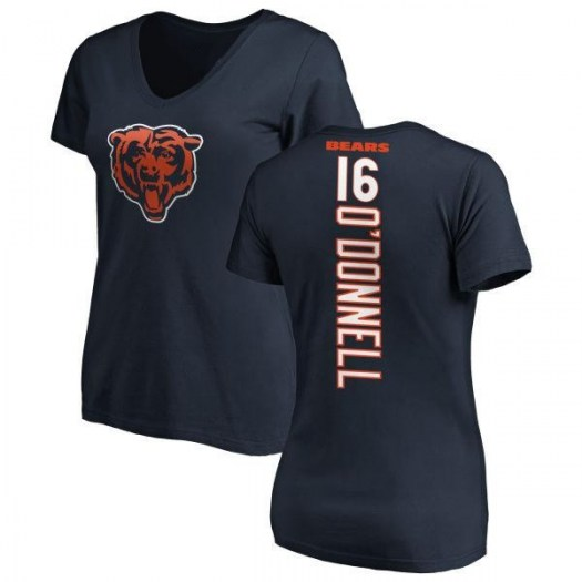 Pat O'Donnell Chicago Bears Women's Navy Pro Line Backer Slim Fit T-Shirt -