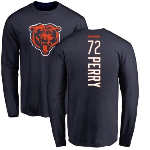William Perry Chicago Bears Men's Navy Pro Line Backer Long Sleeve T-Shirt -