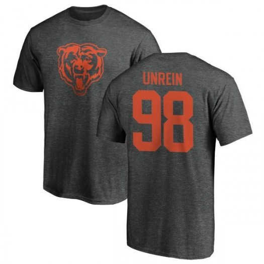 Mitch Unrein Chicago Bears Men's Pro Line by Branded One Color T-Shirt - Ash